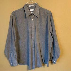 Grey Oleg Cassini dress shirt -XL $25